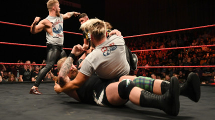 Moustache Mountain & Travis Banks engage The Coffey Brothers & Wolfgang: NXT UK, Dec. 5, 2018