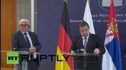 Serbia: Minsk needs to be implemented quicker for sanctions to be lifted - Steinmeier