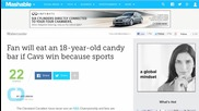 Cleveland Cavaliers Fan Vows to Eat 18 Year Old Candy for Championship