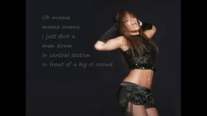 New! Следващ0то видео на Риана Man Down +[ Lyrics]