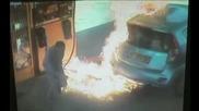 Ядосана жена предизвиква умишлено пожар на бензиностанция в Йерусалим