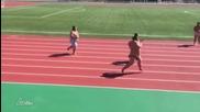 Сумисти тренират бягане на 100 метра