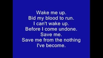 Bring Me to Life - Evanescence (lyrics)