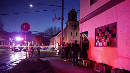 USA: Firefighters respond to fire at church in northeast Minneapolis
