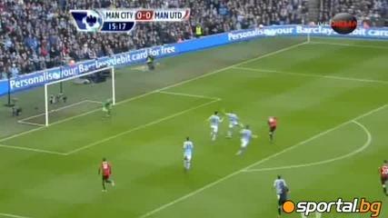 Всички голове! Манчестър Сити 2:3 Манчестър Юнайтед! 09.12.2012