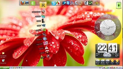 My Desktop wheater and clock widgets Моят Десктоп