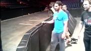 Кечистите от Щитът репетират излзането си на ринга