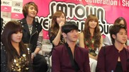 Evil Changmin laughing at Jessica's Failed Pitching @ Sm Town La (20.05.2012)