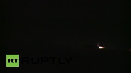 Сирия: Рсуки джет Su-34 напуска авиобаза Латакия за мисия