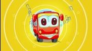 Веселый красный автобус