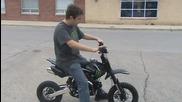 Monster Energy 110cc Малък мотор за продажба!