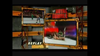 Wwe Royal Rumble Match 2011 - Hornswoggle Tadpole Splash Vbox7