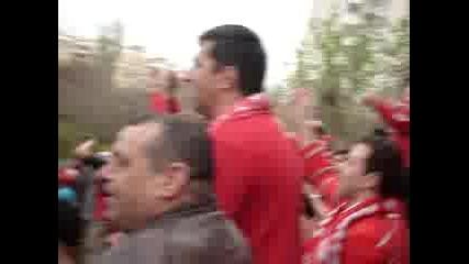 Футболистите На Цска Поздравяват Феновете