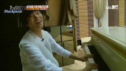 [ Бг Превод ] Got7 - Йонг Дже свири на пиано