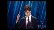 Daniel Radcliffe Takes Award