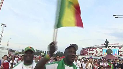 Russia: Senegal fans dance out of stadium after 2:1 victory over Poland