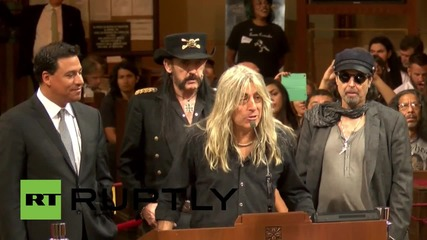USA: Motorhead honoured for their 'great music' by LA City Council