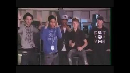 Justin Bieber Does The Sprinkler on 'america's Best Dance Crew'