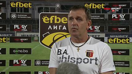 Бруно Акрапович: Благодаря на момчетата за характера