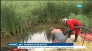 Десетки тонове бензин се изляха от спукан тръбопровод в Бургас