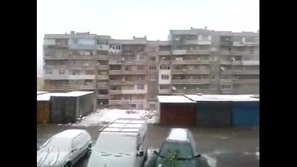 Сняг в Шумен 27.11.2013