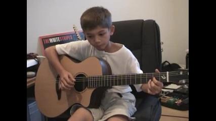 Така се става велик китарист.. !! Stairway to heaven- Led Zeppelin [ cover ]