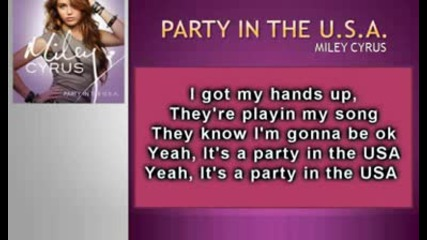 (official Karaoke Instrumental) Party in the U.s.a. - Miley Cyrus