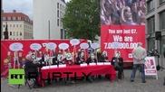 Germany: 'Die Linke' protest G7 Dresden meeting