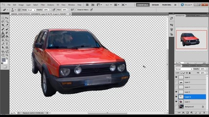 Photoshop подобрение на Golf Ii