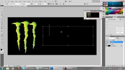 Как да си направим яко лого с шрифт на Monster Energy :)
