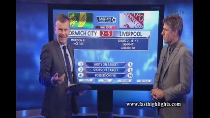 Висшата лига !!! Норич 2:5 Ливърпул !!!