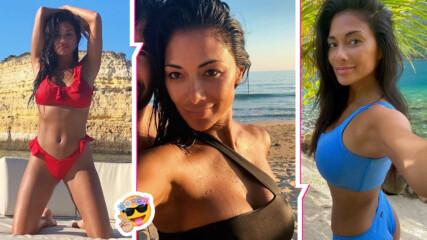Летните страсти на една секси жена: Никол Шерцингер с горещ танц на плажа