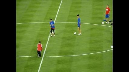 Football Free Style Шоу преди мача Милан Челси !