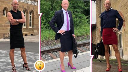 Аз съм хетеросексуален, обичам жени и нося високи токчета, и къси поли