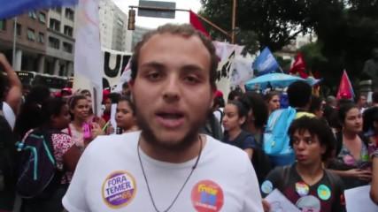 Brazil: Thousands march in Rio against Temer's 'fascist and cruel capitalism'