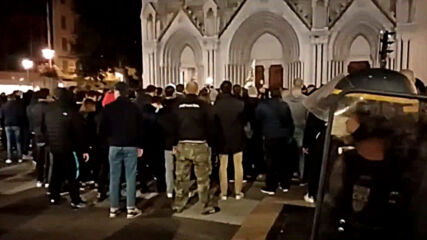 France: Far-right group holds demo outside Nice church after attack