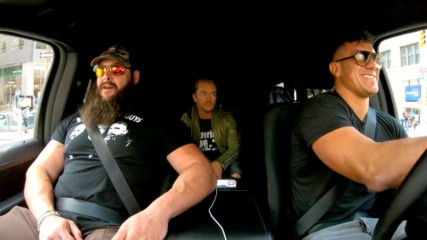 Braun Strowman uses force to get the front seat on WWE Ride Along