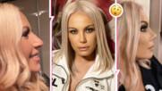 Камелия с нова снимка ПРЕДИ и СЛЕД корекцията, а Глория коментира новия нос на колежката си