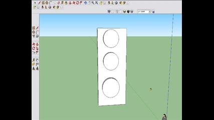 Как да си направим 3d светофар с програмата Google Sketch up 8