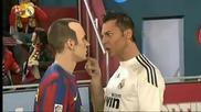 100 Смях ! Пародия! Иниеста срещу Роналдо !!!