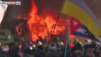 Реални кадри от Киев - Протести