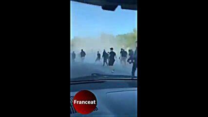Кърваво меле между феновете на Монпелие и Бордо