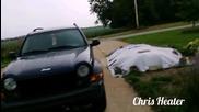 Падане на мълния близо до камерата в Урбана, Илинойс