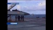 Миг29к изпитания на авионосния крайцер Адмирал Кузницов