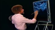 S04 Радостта на живописта с Bob Ross E05 - вечерен морси пейзаж ღобучение в рисуване, живописღ