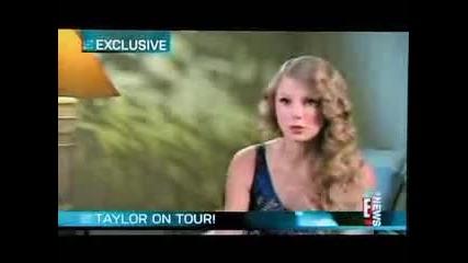 Тейлър С. говори за турнето си пред E!news