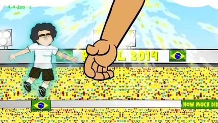 Смешна Анимация за световното: Аржентина 1 - 0 Швейцария ( Анхел Ди Мариа )