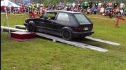 Volkswagen Golf Mk1 rabbit vr6 turbo 400hp - dyno