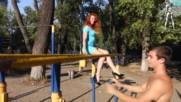 Невероятната Украинка Елена Казакевич показва страхотната си сила и издържливост