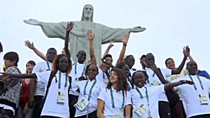 Бежанският олимпийски отбор посети статуята на Христос Спасителя